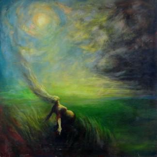 Walking into Light Painting Yasmeen Olya Art